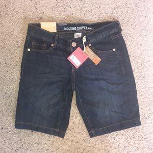 Dark Blue Jean Shorts
